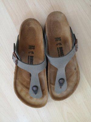 Birkenstock Flip-Flop Sandals grey brown