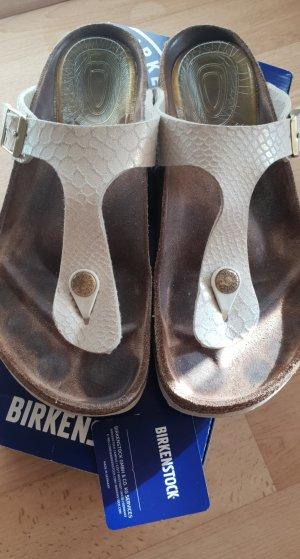 Birkenstock Flip-Flop Sandals natural white