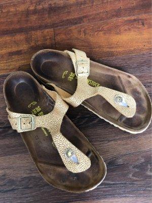 Birkenstock Toe-Post sandals gold-colored