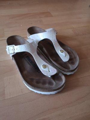 Birkenstock High-Heeled Toe-Post Sandals multicolored