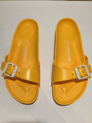 Birkenstock Comfort Sandals neon yellow synthetic material