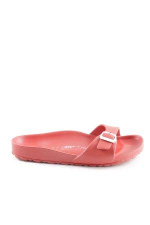 Birkenstock Sandalias de playa rojo look casual