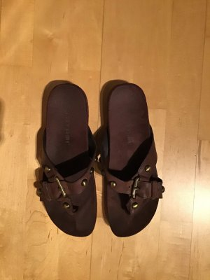 Tatami High-Heeled Toe-Post Sandals brown leather