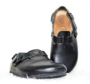 Birkenstock Slipper Socks black-bronze-colored leather