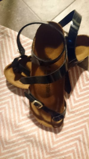 Birkenstock Sandals black-gold-colored