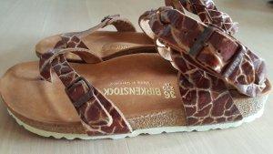Birkenstock Sandalias con talón descubierto marrón Cuero