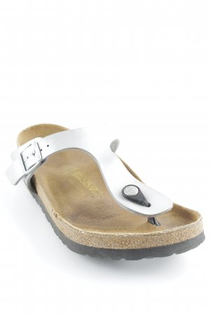 Birkenstock High-Heeled Toe-Post Sandals sand brown-light grey beach look