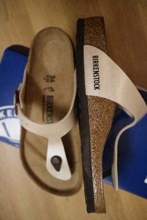 Birkenstock Toe-Post sandals cream