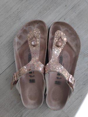 Birkenstock Sandalo toe-post multicolore Pelle