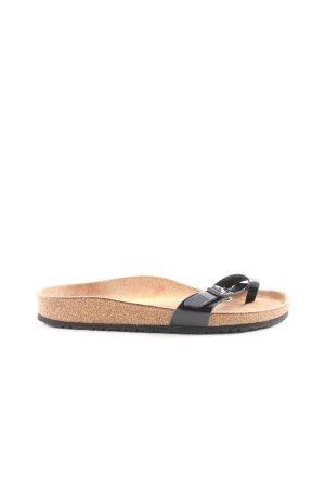 Birkenstock Zehentrenner-Sandalen schwarz-nude Casual-Look