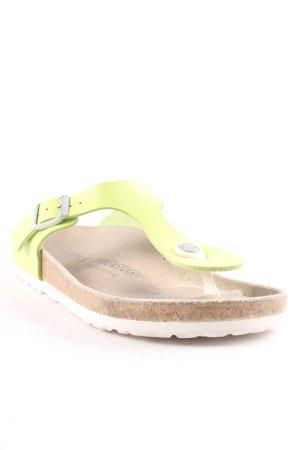 Birkenstock Toe-Post sandals neon green casual look