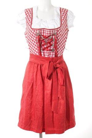 Birkhahn Dirndl rosso-bianco motivo a quadri stile classico