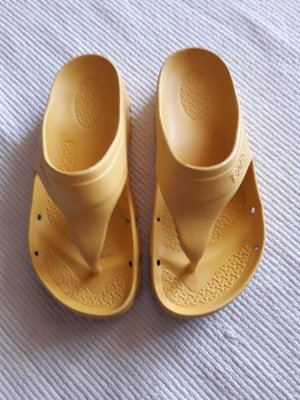 Birkenstock Toe-Post sandals gold-colored-gold orange
