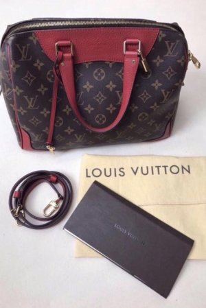 Louis Vuitton Sac rouge foncé