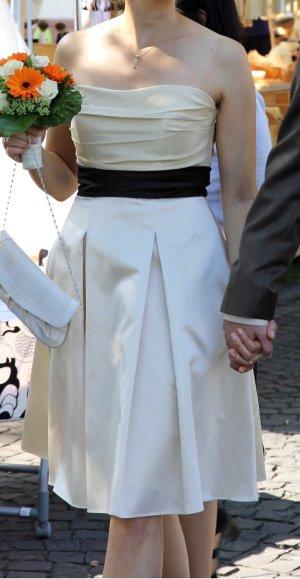 Bis 30.6.! Champagnerfarbenes Hochzeitskleid Cocktailkleid Standesamt 'Jim Hjelm Occasions' Gr. 36