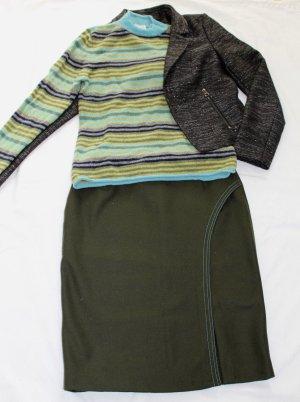 Brookshire Gestreifter Pullover aus reiner Schurwolle Gr. M