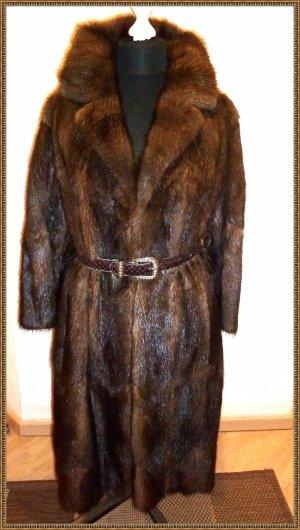 Pelt Coat taupe-dark brown fur