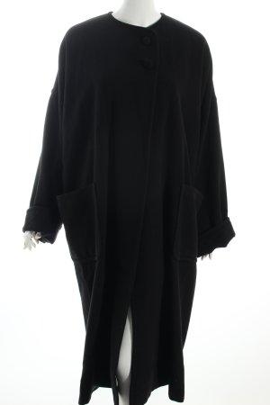 Bisang Couture Oversized Mantel schwarz Elegant