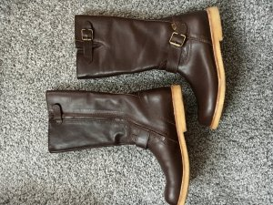 Jackboots brown red leather