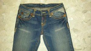 BISOU DEVE  / Jeansschlaghose  /   hellblau Stone wash  / Gr. 36