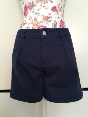 Short bleu coton