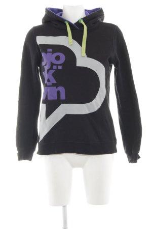 Björkvin Kapuzenpullover abstraktes Muster sportlicher Stil