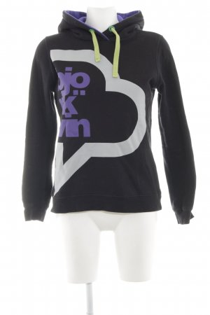 Björkvin Hooded Sweater abstract pattern athletic style