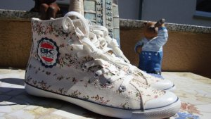 BK BRITISH KNIGHTS SNEAKER HIGH-TOP CHUCKS BOOTS CANVAS BLUMEN FLOWER neu 36/37
