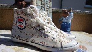 BK BRITISH KNIGHTS SNEAKER HIGH-TOP CHUCKS BOOTS CANVAS BLUMEN FLOWER VEGAN NEU 36/37 NEUPREIS 59,95€!!! VEGAN!!!