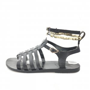 Ancient greek sandals Sandals black