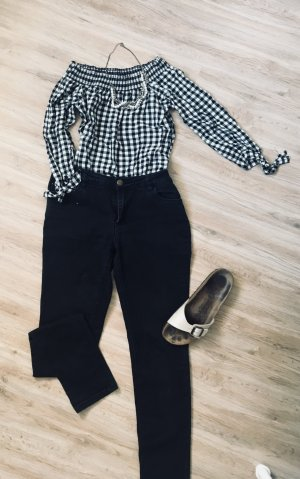 Only Drainpipe Trousers black-white