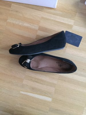 Mary Jane ballerina's zwart Leer