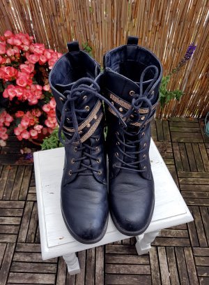 Lace-up Boots multicolored imitation leather