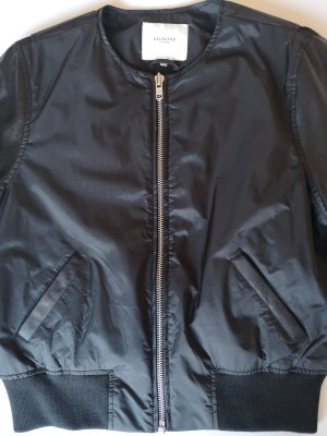 black blouson jacket by selected femme