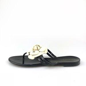 Black  Chanel Flip Flop