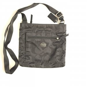Black  Coach Cross Body Bag