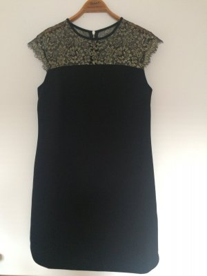 Black Dress with Golden Detail Lace by Ted Baker