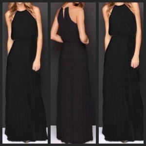 Black Fashion Blogger Maxikleid Größe M