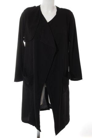 Black Five Giacca lunga nero stile casual