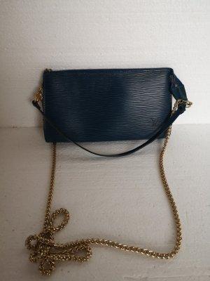 Louis Vuitton Pochette oro-blu scuro Pelle