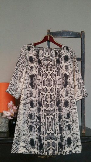 Kleid Tunika Oberteil seidenmatt in Schlangenprint Mango XS