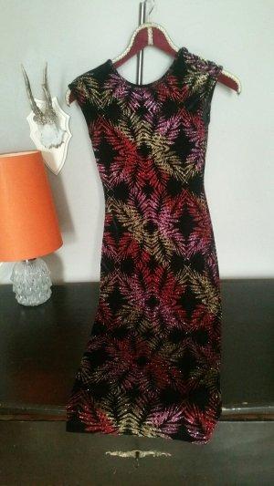 Topshop Vestido de noche multicolor tejido mezclado