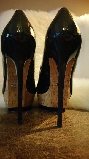 Stilettos/High Heels Plateau, Zara, Lackleder, offiziell 38, fallen wie 37 aus