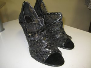 High Heel Sandal black synthetic fibre