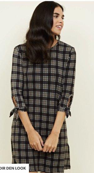 Black Grid Print Kleid Neu in Gr L & ETIKETT