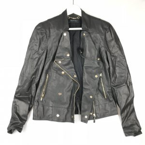 Black  Gucci Leather Jacket