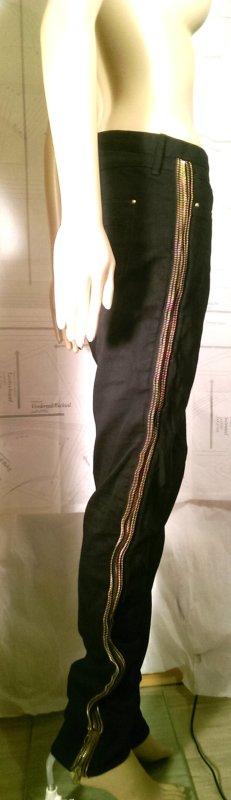 Black Jeans von Twenty8Twelve mit seitlichen Reissverschlüssen Size 27 / 34