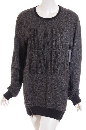 Black Kaviar Longpullover schwarz Casual-Look