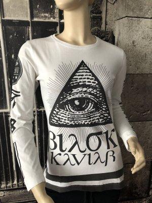 Black Kaviar Print Shirt black-white