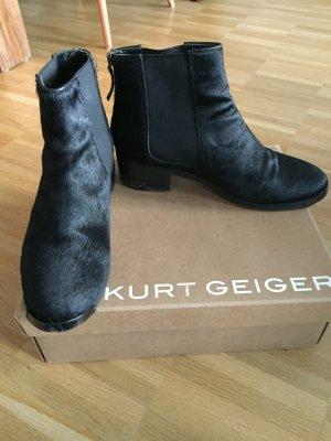 Kurt Geiger Zipper Booties black fur